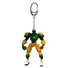 "NFL Green Bay Packers NFL 3"""" Team Cleatus FOX Robot NFL Football Key Chain Version 2.0"