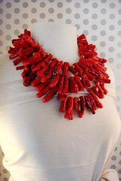 Coral Fibre Fiber Necklace Sandy Swirnoff Design jewelry