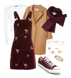 """autumn "" by sheissecret on Polyvore featuring Topshop, MANGO, Lacoste, Linda Farrow, Converse, New Directions and Cartier"