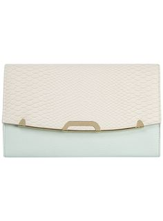 Mint/cream structured clutch - Dorothy Perkins Price:£15.00