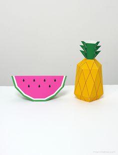 Eu Amo Artesanato: Frutas de papel com molde