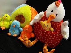 Ophelia and her chicks - great unplugged play for kids, especially little ones with sensory disorders. This one small toy set has SO many ways to interact and learn.