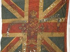 To mark anniversary of the Battle of Waterloo, The Royal Scots regimental Colours, which they carried into the battle, are to be displayed for the last time to the public at Edinburgh Castle. Waterloo 1815, Battle Of Waterloo, Union Flags, Edinburgh Castle, Napoleonic Wars, Scottish Highlands, Union Jack, Military History, Bohemian Rug