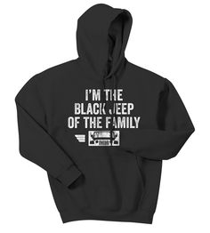 All Things Jeep - Black Jeep of the Family Adult Hooded Sweatshirt