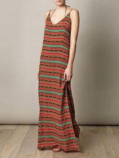 sahara tribal maxi dress