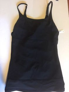 1f334cfc0db Flexees Slimming Shaper Cami Large Black 4266 Double Panel Top Firm 30%  Spandex