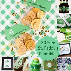 Do you love leprechauns, rainbows and pots of gold? Download these FREE 20 St. Patrick's Day printables to celebrate this Irish holiday! via @modpodgerocks