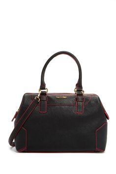 Calvin Klein Leather Satchel from HauteLook on shop.CatalogSpree.com, your personal digital mall.