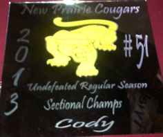 Sectional Champ Football season personalized mirror