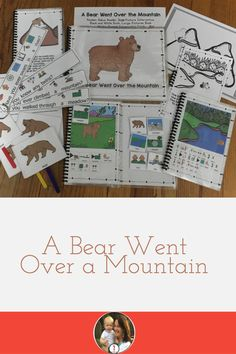 A Bear Went Over the Mountain Conversation Cards, School Songs, Simple Sentences, Fun Songs, English Language Learners, Preschool Lessons, Speech And Language, Writing Prompts, Teaching Resources
