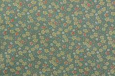 "Vintage Floral Fabric, Cotton Floral Fabric, Sage Green Fabric, Cotton Fabric, Cotton Quilting Fabric Remnant - 72"" x 30"" - CFL2606"