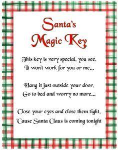 No chimney no problem just get a magic santa claus key santa just get a magic santa claus key santa letter template letter templates and santa spiritdancerdesigns Choice Image