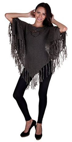 Style up with this super soft cozy knit fringe poncho sweater with crochet at neck. Perfect to wear over fitted jackets, and sweaters for a great look. Comes in three colors