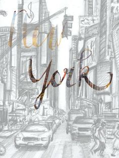 New york darwing and handlettering