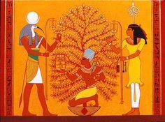 Thoth, Seshat y el Árbol de la Vida.