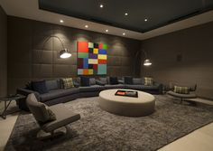 Der Ausdruck einer modernen Villa von Hagy Belzberg Homesthetics Heimkino