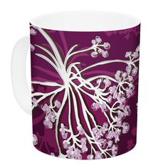 Squiggly Floral by Suzie Tremel 11 oz. Ceramic Coffee Mug