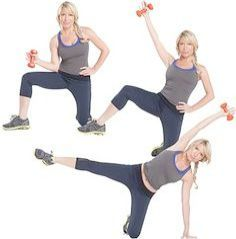 Side kick: These dumbbell exercises from celebrity trainer Tracy Anderson are designed to work body parts in the most muscle-targeted, time-efficient way. Tracy Anderson Workout, Tracy Anderson Diet, Tracy Anderson Method, Fitness Tips, Fitness Motivation, Health Fitness, Men Health, Muscle Fitness, Gain Muscle