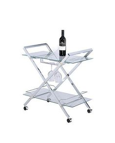 So many entertaining needs can be meet with this elegant and affordable buffet server/wine cart. The ultra-modern design of this cart makes it a striking and versatile showpiece for the host who requires beautiful form and maximum versatility. Shown here in a sleek chrome finish, this cart has a... more details available at https://furniture.bestselleroutlets.com/game-recreation-room-furniture/home-bar-furniture/bar-serving-carts/product-review-for-myco-furniture-glass-modern