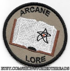 Arcane Lore Geek Merit Badge Patch by StoriedThreads on Etsy
