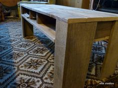 Here's a tutorial on how to turn your shipping pallet into a coffee table. It could also be a craft table for the kids.