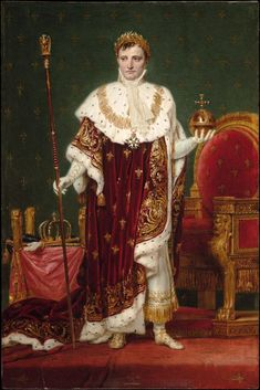 Jacques Louis David - Kaiser Napoleon I. im Harvard Art Museum Cambridge MA - Jacques Louis David - French History, Art History, Jacque Louis David, Roi George, First French Empire, French Royalty, Harvard Art Museum, European Paintings, French Revolution