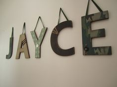 Custom Hanging Wall LettersIn the Army Theme by displayyourheart, $12.00