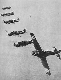 """Photo: Air Force Fighters Vichy Curtis """"Hawk"""" H-75A group GC 1/4 in flight near Dakar"""