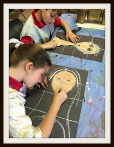 For this self-portrait project, 4th graders learned all about Italian artist Modigliani. I was actually not familiar with this artist until starting my teaching job at EDS and found an old print w…