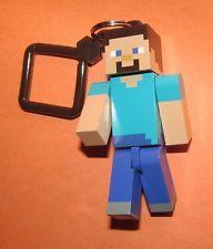 Minecraft Hanger STEVE Poseable Figure Backpack Keychain Clip OFFICIAL MDSE