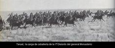 carga de la primera division de caballería del general monasterio