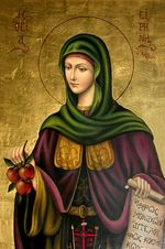 Irene Chrysovalantou She developed the gifts of foresight and exorcism. Catholic Art, Catholic Saints, Patron Saints, Byzantine Icons, Byzantine Art, Christian Symbols, Christian Faith, Religious Images, Religious Art