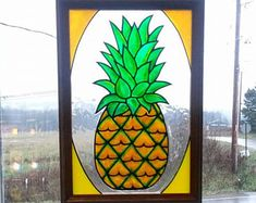 Image result for stained glass pineapple etsy