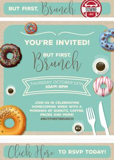 Homecoming Week, Student House, Youre Invited, The One, Rsvp, Brunch, Invitations, Marketing, Design
