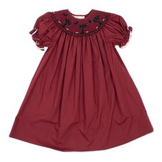 Toddler Palmetto Tree Smocked Bishop Dress