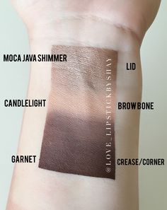 ShadowSense Swatches || Garnet, Candlelight, Moca Java Shimmer Love + Lipstick by Shay Distributor Id #212059 SeneGence, Makeup, LipSticks www.instagram.com/love_lipstickbyshay