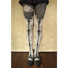 corset tights double lace -white- - abilletage【アビエタージュ】 コルセット通販