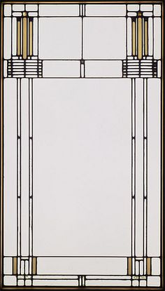 Frank Lloyd Wright window, 1902 by Chicago History Museum, via Flickr