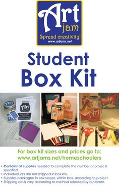 A great way to teach art this school year. No shopping around for art supplies - just open the kit. Snack Recipes, Snacks, Teaching Art, 6 Years, Pop Tarts, Packaging, Jar, Art Supplies, Creative