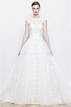 Elegant Juweel Tule Applique Bruidsjurken Online