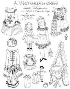 A Victorian style paper doll