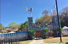 Dori Pole flying high above the castle at the Renaissance Fair in Deerfield Florida!