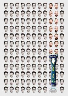 Advertising Campaign : Wilkinson Sword Hydro 5 Groomer: Break the routine 2 Advertising Agency: JWT L Creative Advertising, Ads Creative, Advertising Poster, Advertising Design, Advertising Campaign, Marketing And Advertising, Creative Design, Advertisement Examples, Creative Grooming