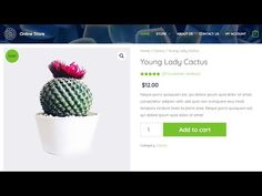 Learn how to create an online ecommerce store step by step with no step skipped. You will learn how to create an online shop that is able to take payments ri. Wordpress Help, Cactus, Ecommerce Store, Create Yourself, How To Make, Website, Youtube, Videos, Youtubers