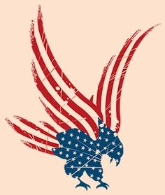 Flying American Eagle Tattoo Design