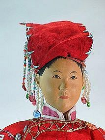 elaborate art dolls | Chinese Door of Hope Mission Doll: Traditional Bride