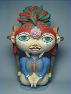 KEIICHI TANAAMI | 2007 | Portrait of a Goldfish Girl Keiichi Tanaami, Psychedelic Art, Goldfish, Art Forms, Art Pieces, Japan, Portrait, Fictional Characters, Headshot Photography