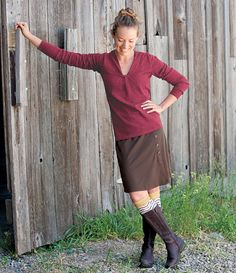 So comfy-love the colors, boots and especially the socks!