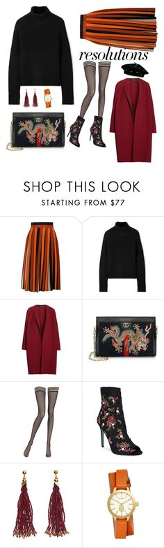 """#PolyPresents: New Year's Resolutions"" by travelwithsyle ❤ liked on Polyvore featuring Givenchy, Burberry, Lafayette 148 New York, Gucci, La Perla, Betsey Johnson, Nocturne, Tory Burch, Steve Madden and contestentry"