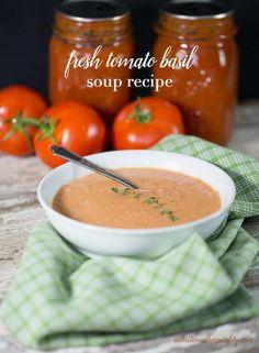 Fresh Tomato Basil Soup Recipe | Intentional Hospitality
